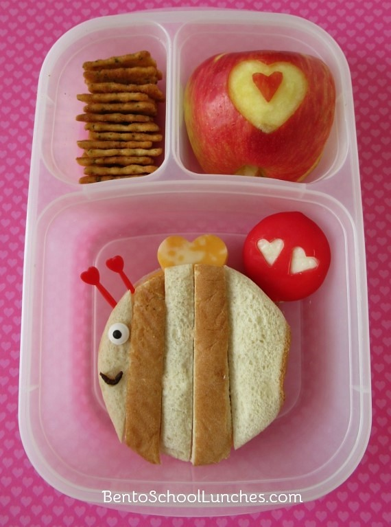 Bee Mine Valentine's Day Bento Lunch