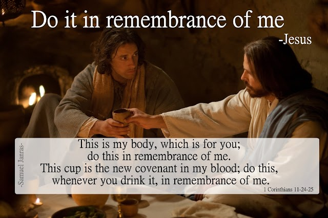 Last Supper Bible Verse