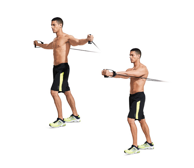 Best Chest Exercises of All Time - 30 Exercise - Band-Resisted Flye