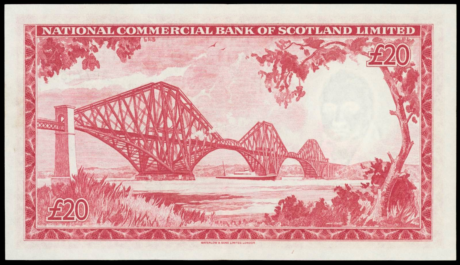 Scottish Banknotes 20 pounds 1959 National Commercial Bank of Scotland