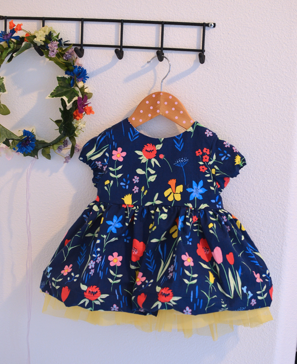 Lovely Sommer Fabric Easter dress perfect for a sweet little baby - Caroline Party Dress Mouse House Pattern