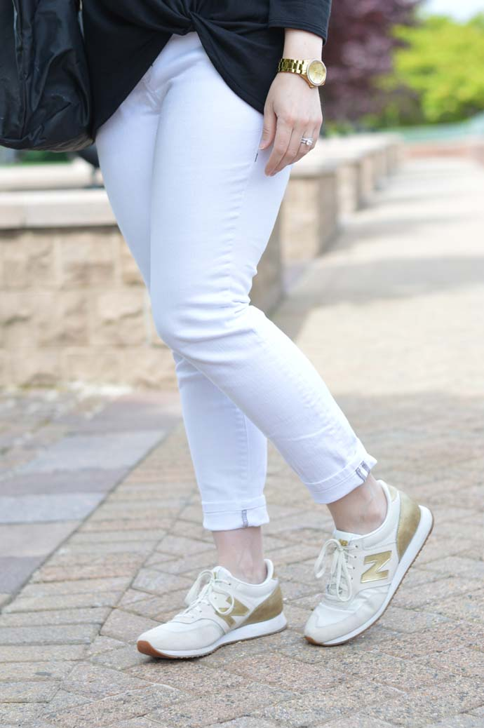Gold New Balance Sneakers