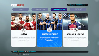PES 2013 Theme PES 2019 Official Graphic Menu