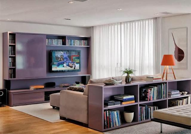 Aparador Tv Sala ~ Construindo Minha Casa Clean Salas de Estar e de TV