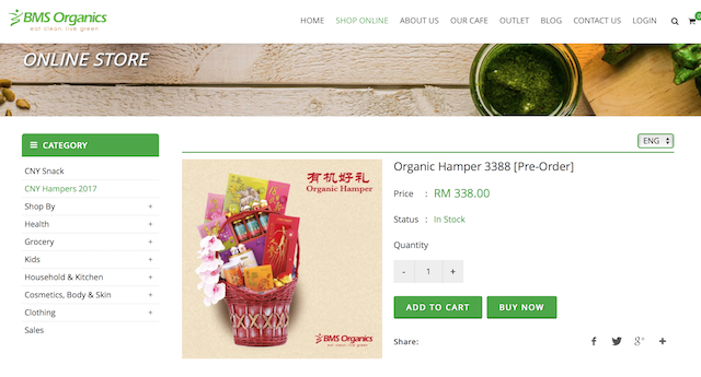 You can purchase the BMS Organics Chinese New Year 2017 Hampers online too!