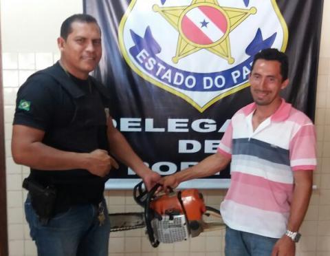 Polícia Civil recupera motosserra furtada no município de Portel