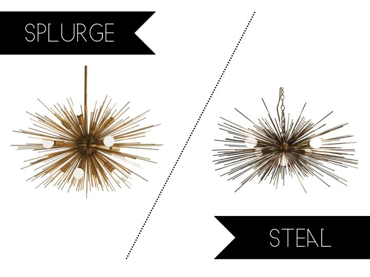 Splurge Vs Steal Sunday Gold Urchin Chandelier