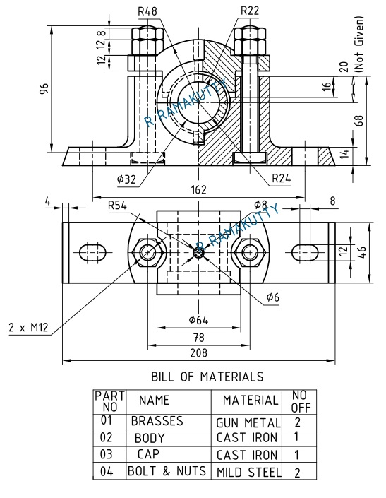 Machine Drawing: Machine Drawing Solution Oct'2015