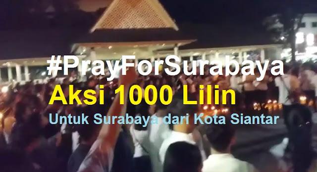Doa Bersama dan Aksi 1000 Lilin Dari Siantar Untuk Korban Teror Bom Gereja di Surabaya