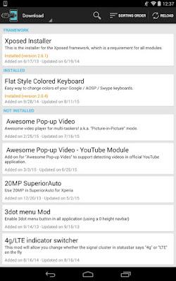 تطبيق Xposed Installer مهكر للأندرويد, تطبيق Xposed Installer كامل للأندرويد