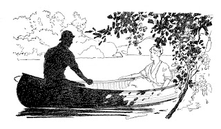 couple romance canoe digital