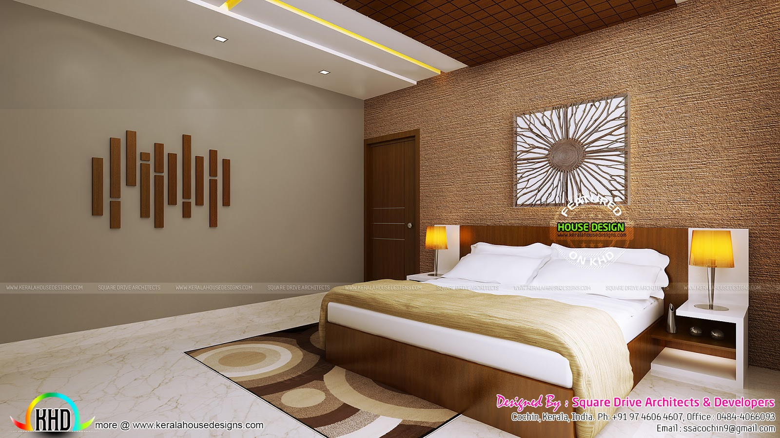 Bedroom Ceiling Designs Kerala False Ceiling Bedroom And Dining Interiors Kerala Home