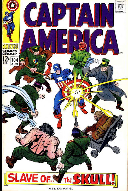 Captain America v1 #104 marvel comic book cover art by Jack Kirby