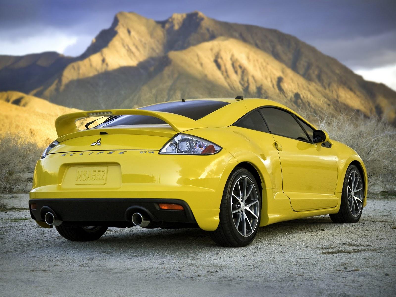 Gambar Mobil Mitsubishi Eclipse yellow