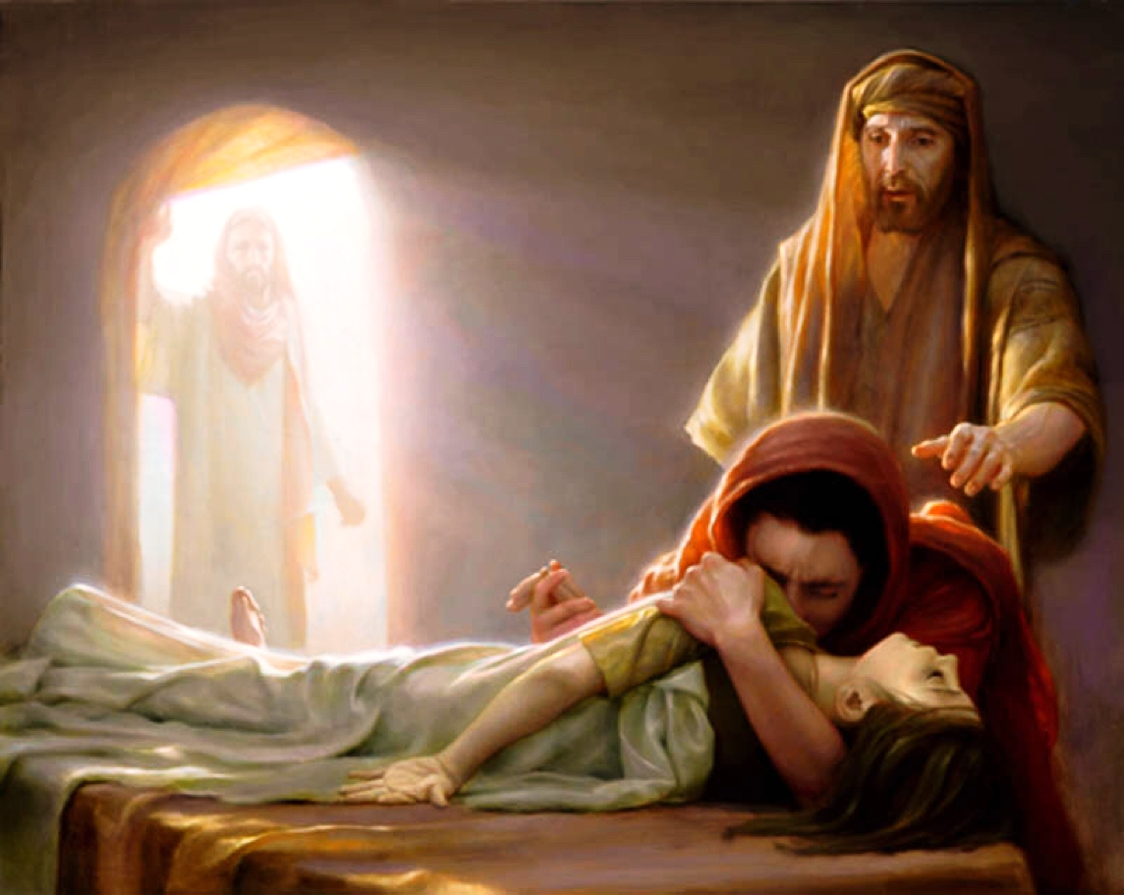 Jesus continued to the house, where he informed all those present that the girl was not dead but asleep.
