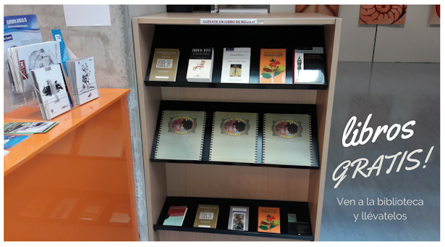 En la BUM, libros para regalar a los usuarios.