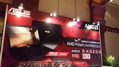 ASUS X550UI >> Laptop terbaru pertama di Indonesia dengan Radeon Polaris !!!