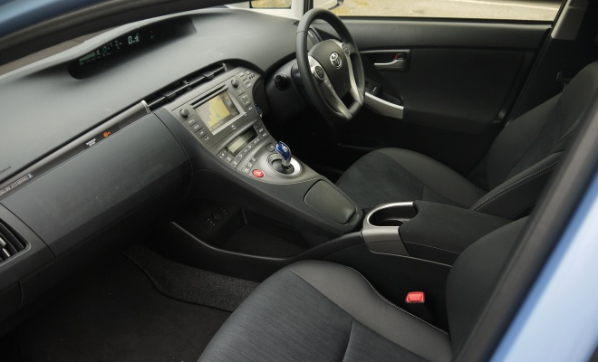 Toyota Prius Plug-in front seats and interior