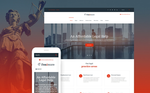 Best Legal Business Website Theme