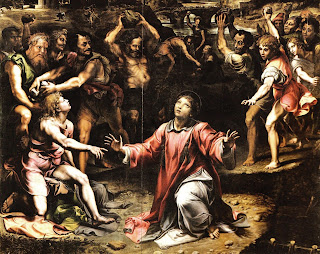 Romano's 1523 painting The Stoning of St Stephen