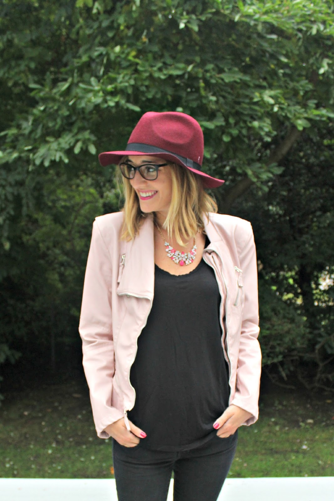 shades of pink fall outfit