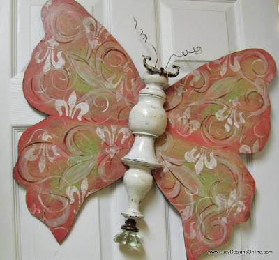 fleur de lis butterfly