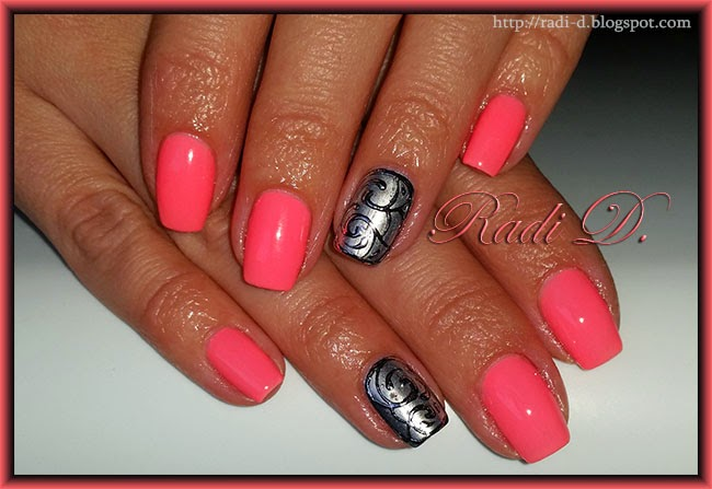 It S All About Nails Neon Gel Polish Silver Chrome Nail