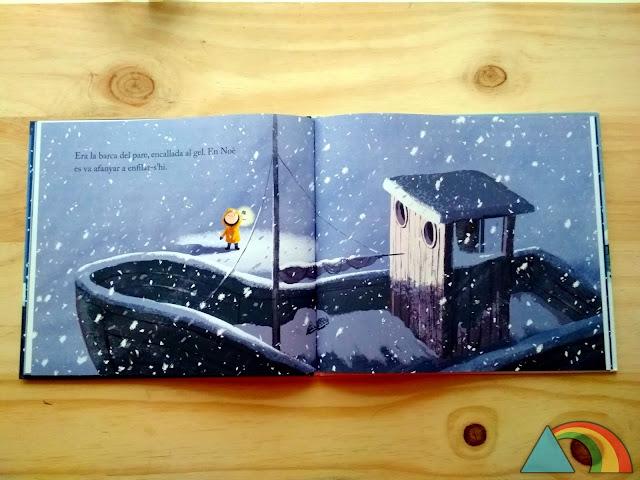 Interior del libro La ballena en invierno de Benji Davies