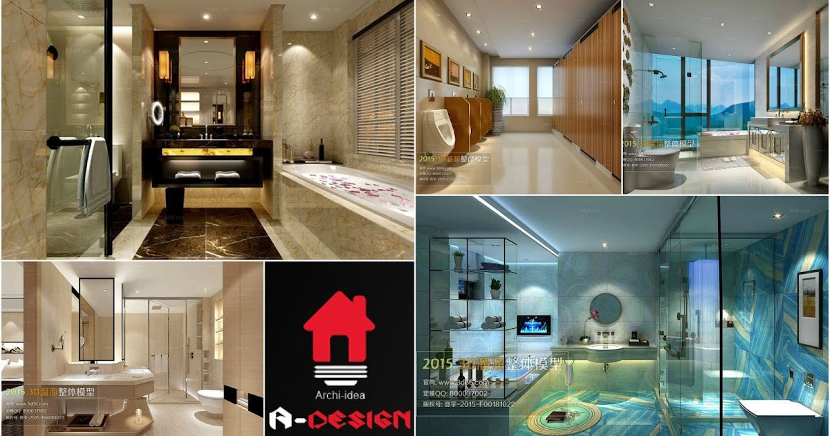 3ds max bathroom 02 models free download architecture for Bathroom design 3ds max