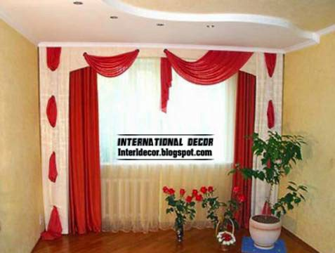 Red Curtains And Window Treatments In The Interiors Interior