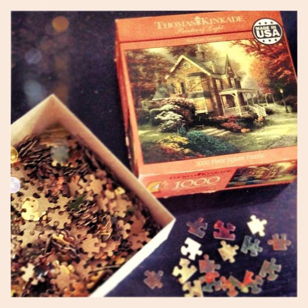 thomas kinkade fall puzzle