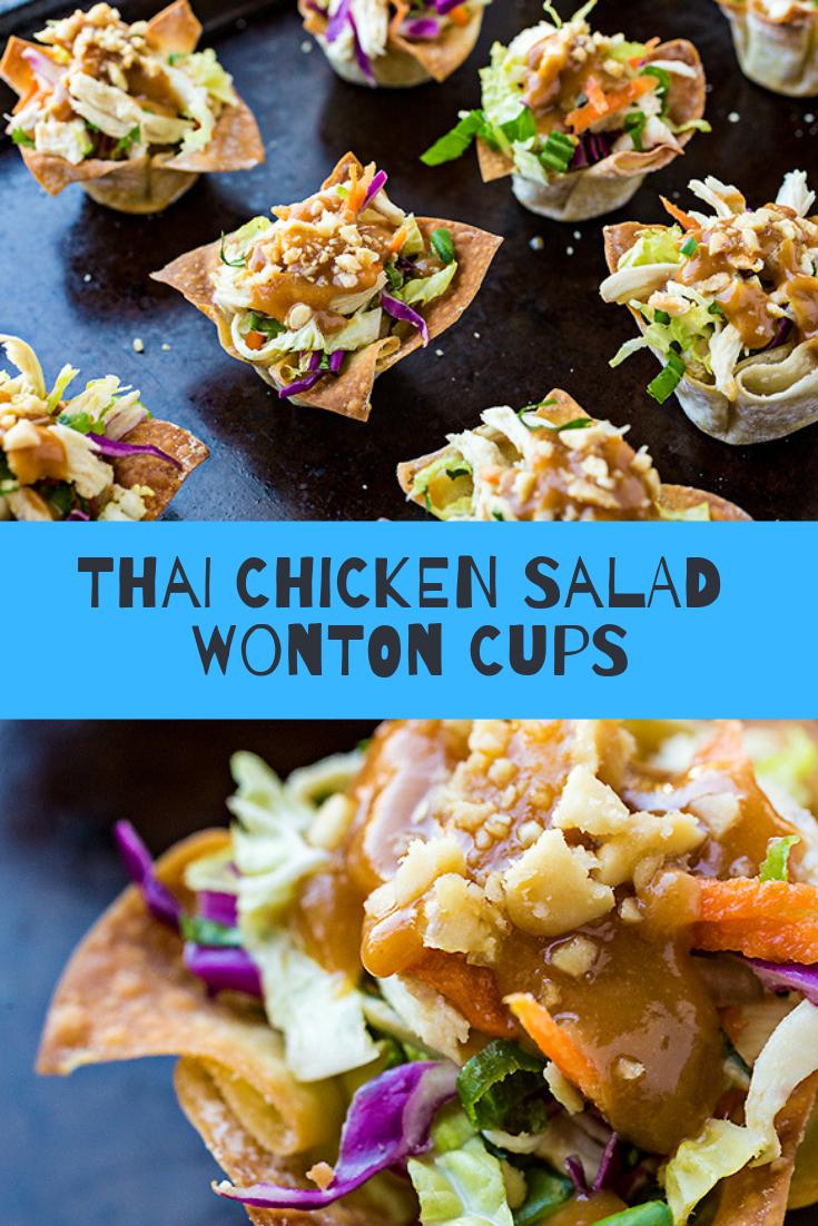 Thai Chicken Salad Wonton Cups Recipe