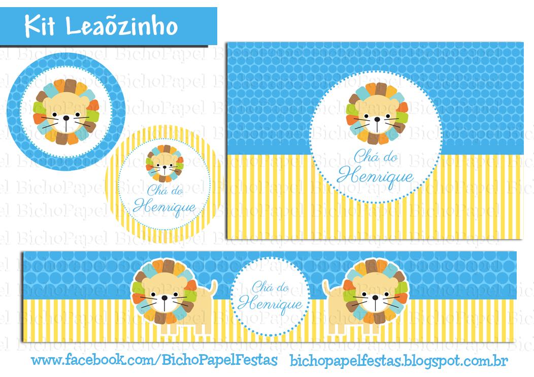 kit Festa  leão Leãozinho