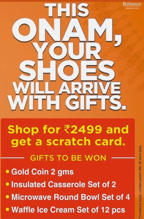 Reliance Foorprint Onam ScratchCard Offer