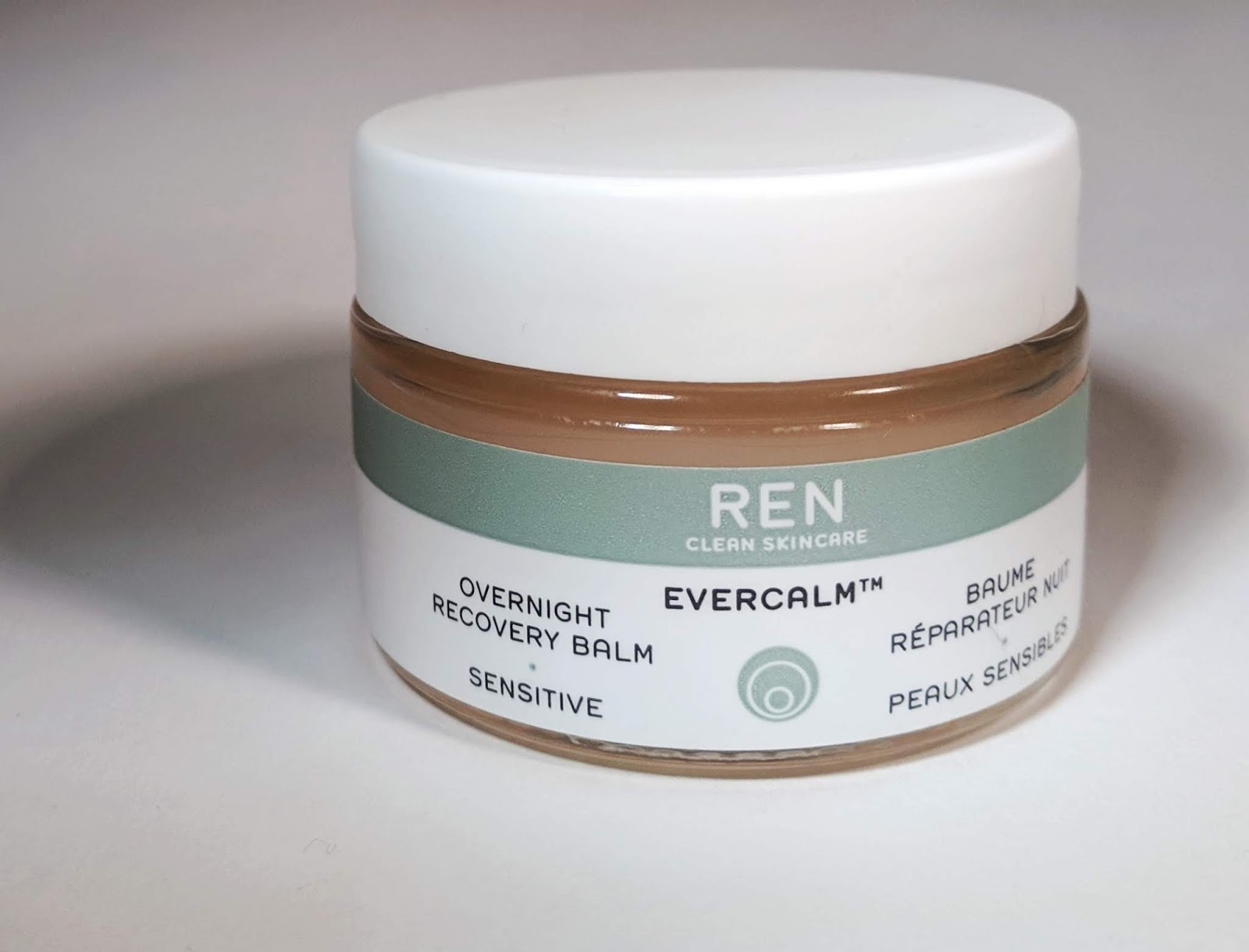 Image of a small jar of REN Overnight Recovery Balm
