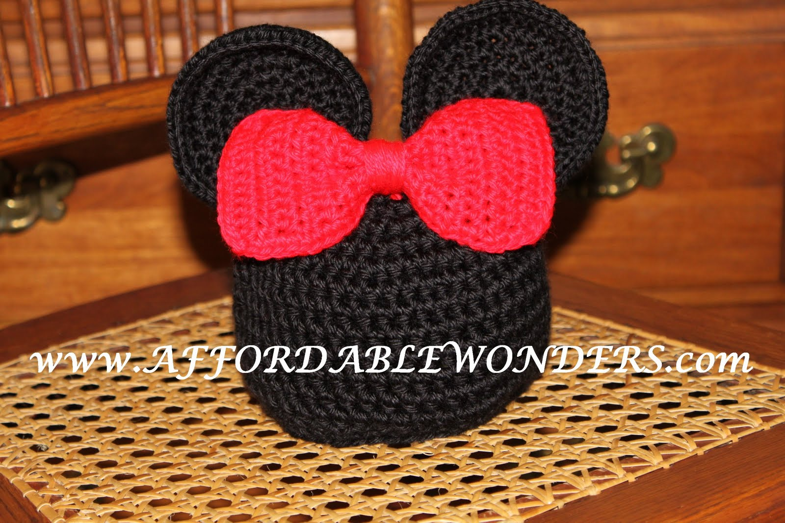 ca7aadff15a Affordable Wonders  Mickey  Minnie Mouse inspired Crocheted hat Pattern