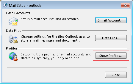 Steps to Delete Complete Outlook Profile by Deleting Profile