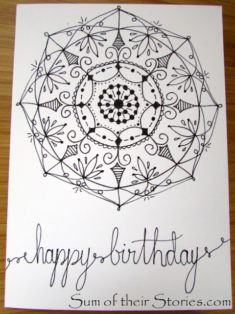 draw your own Mandala birthday card