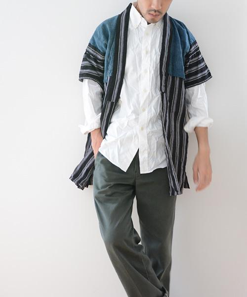 野良着 FUNS 藍染 縞 アンティーク着物 20~40年代 ジャパンヴィンテージ 襤褸 boro