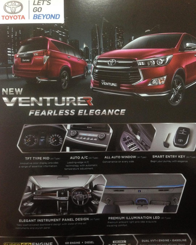 all new toyota kijang innova venturer yaris trd sportivo 2017 ms blog roof spoiler and 17 inch alloy wheels finished in gun metal the also comes with an exclusive wine red exterior color