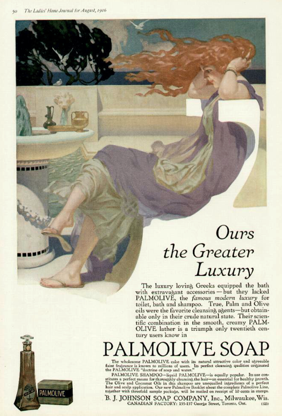 Palmolive Soap, ad August 1916