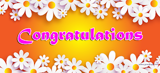 Congratulations Greetings with Flowers