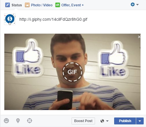 كيف تنشر صور متحركة على صفحتك في الفيسبوك