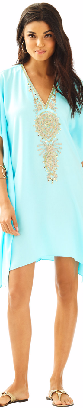 Lilly Pulitzeer Chai V-Neck Caftan Dress