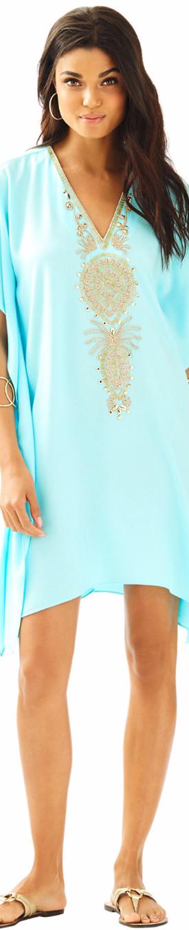 Lilly Pulitzeer Chai V-Neck Caftan Dress