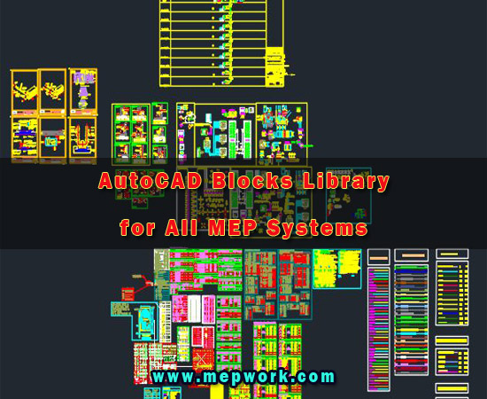AutoCAD Blocks Library for All MEP Systems