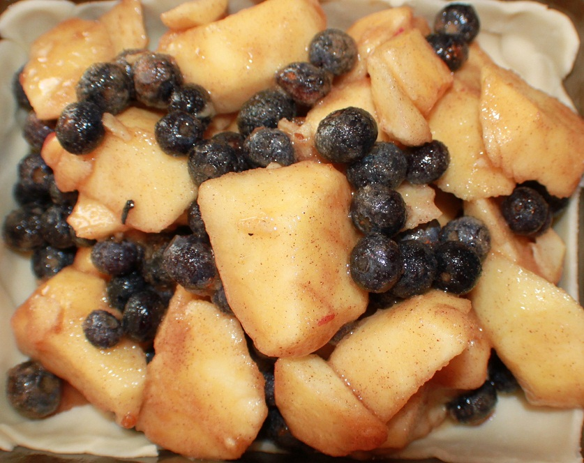 blueberries and apple pie photo