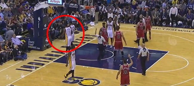Paul George EJECTED For Kicking The Ball at a Fan (VIDEO)