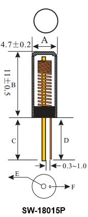 Sensor de vibração - Estrutura
