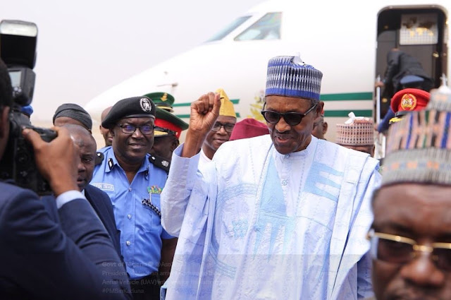 President Muhammadu Buhari on Thursday arrived Kaduna for a working visit.